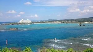 万座ビーチです。海がきれいでした。