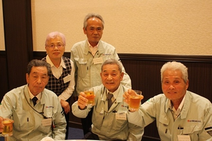 松川電氣のレジェンド5人です