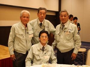 松川電氣が誇るレジェンド達です。<br /> (令和元年度 第27回<br />     安全大会懇親会場にて)