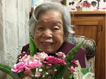 笑顔いっぱいの静子おばあちゃま