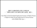 進展する高齢者雇用に関する事例分析<br />  —「多様な中高年人材の雇用に関する研究」報告—