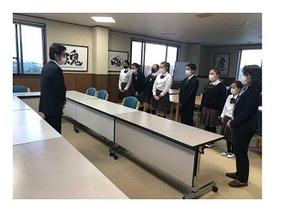 奨学生が小澤社長と初めて対面